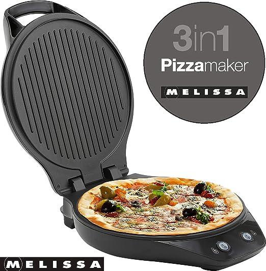 3in1 Pizza-Maker Melissa 16250069 Kontaktgrill Burger Panini Maker 1200 Watt