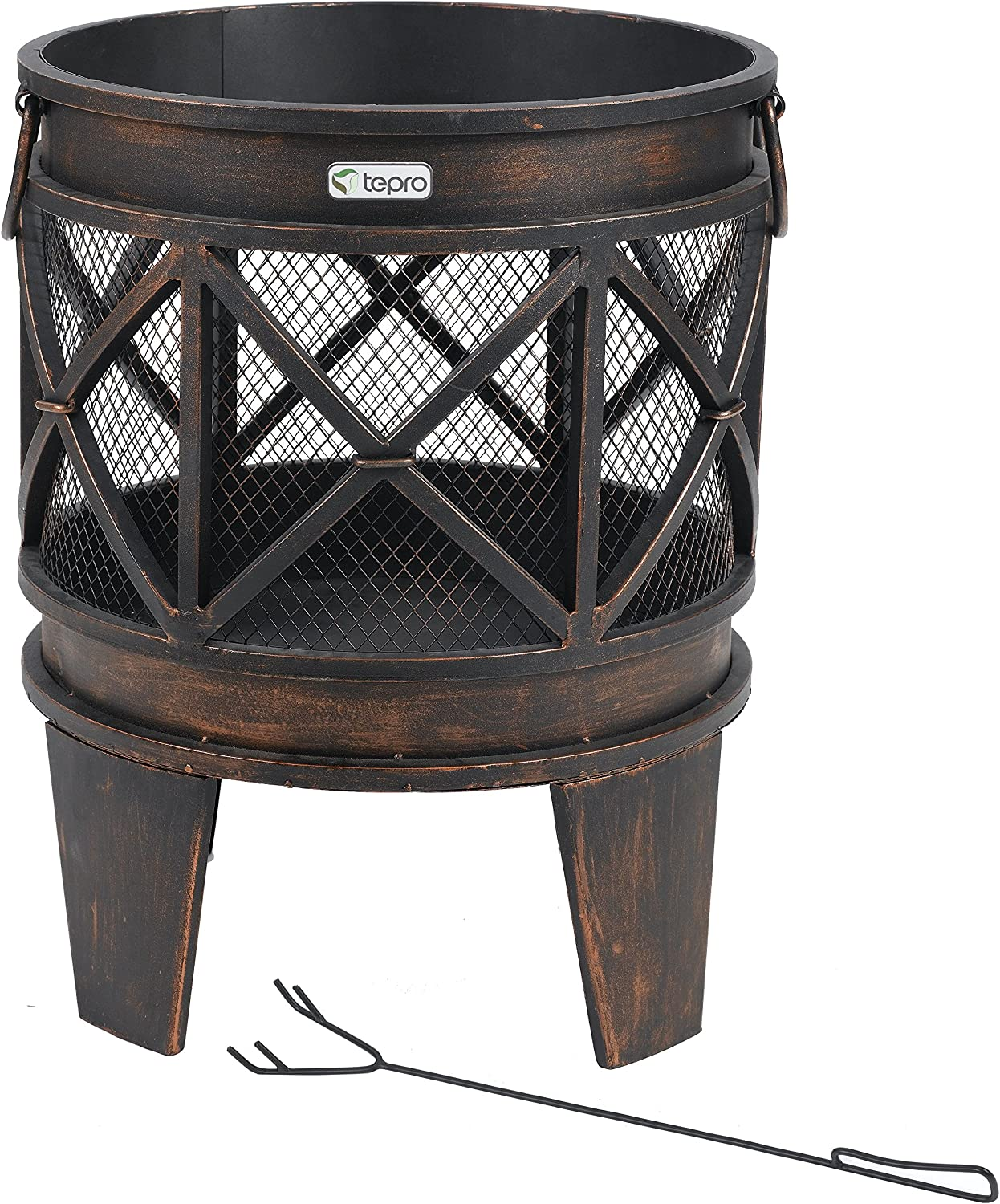 Antique Look Tepro 1127 Gracewood Fireplace//Firepit