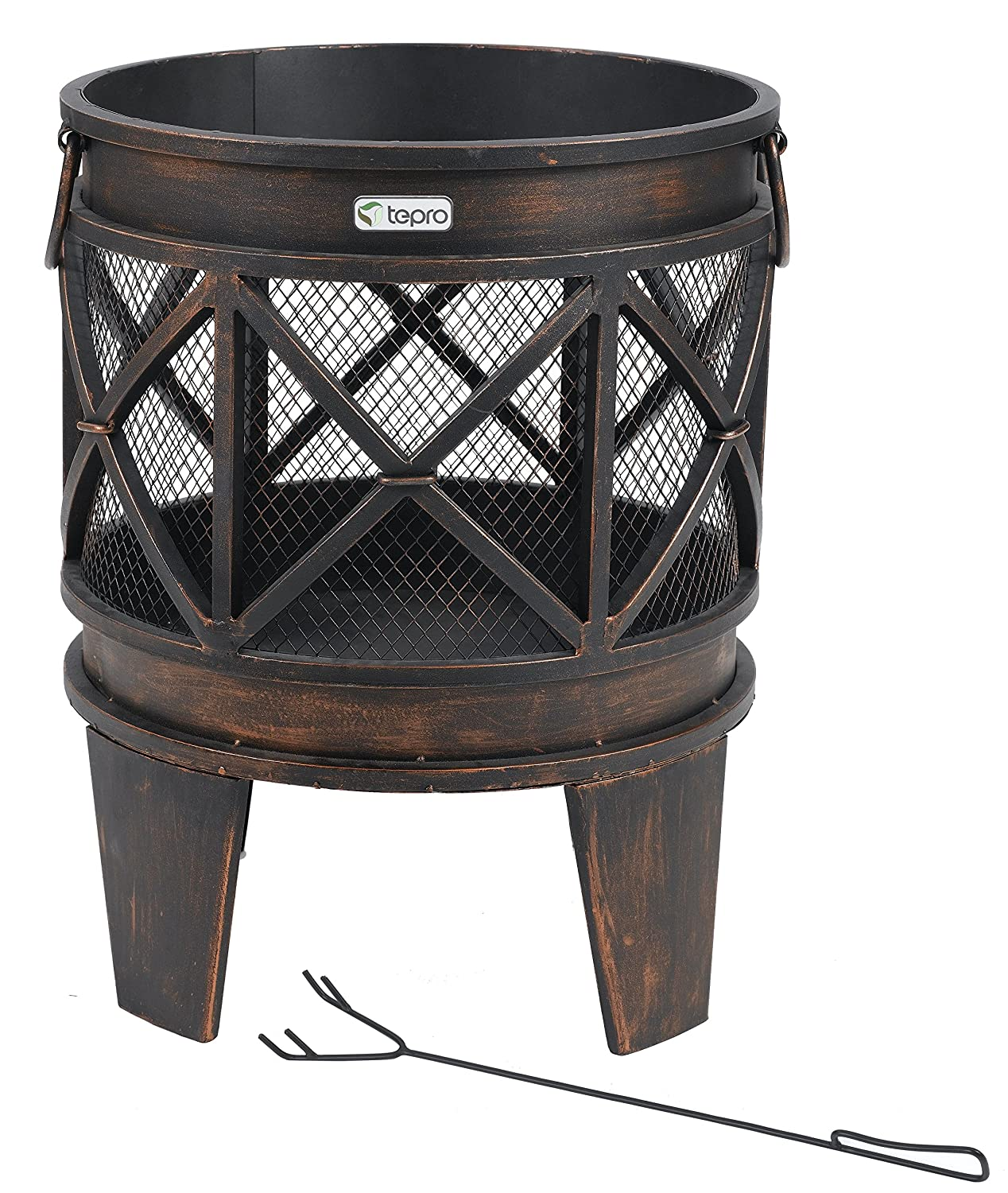 Tepro 1127 Gracewood Fireplace/Firepit - Antique Look