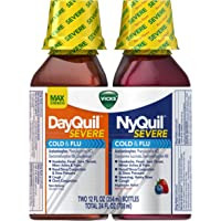 Pack-of-2 Vicks NyQuil and DayQuil SEVERE Cough Cold and Flu Relief Liquid