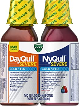 Vicks NyQuil & DayQuil SEVERE Cough Cold & Flu Relief Liquid