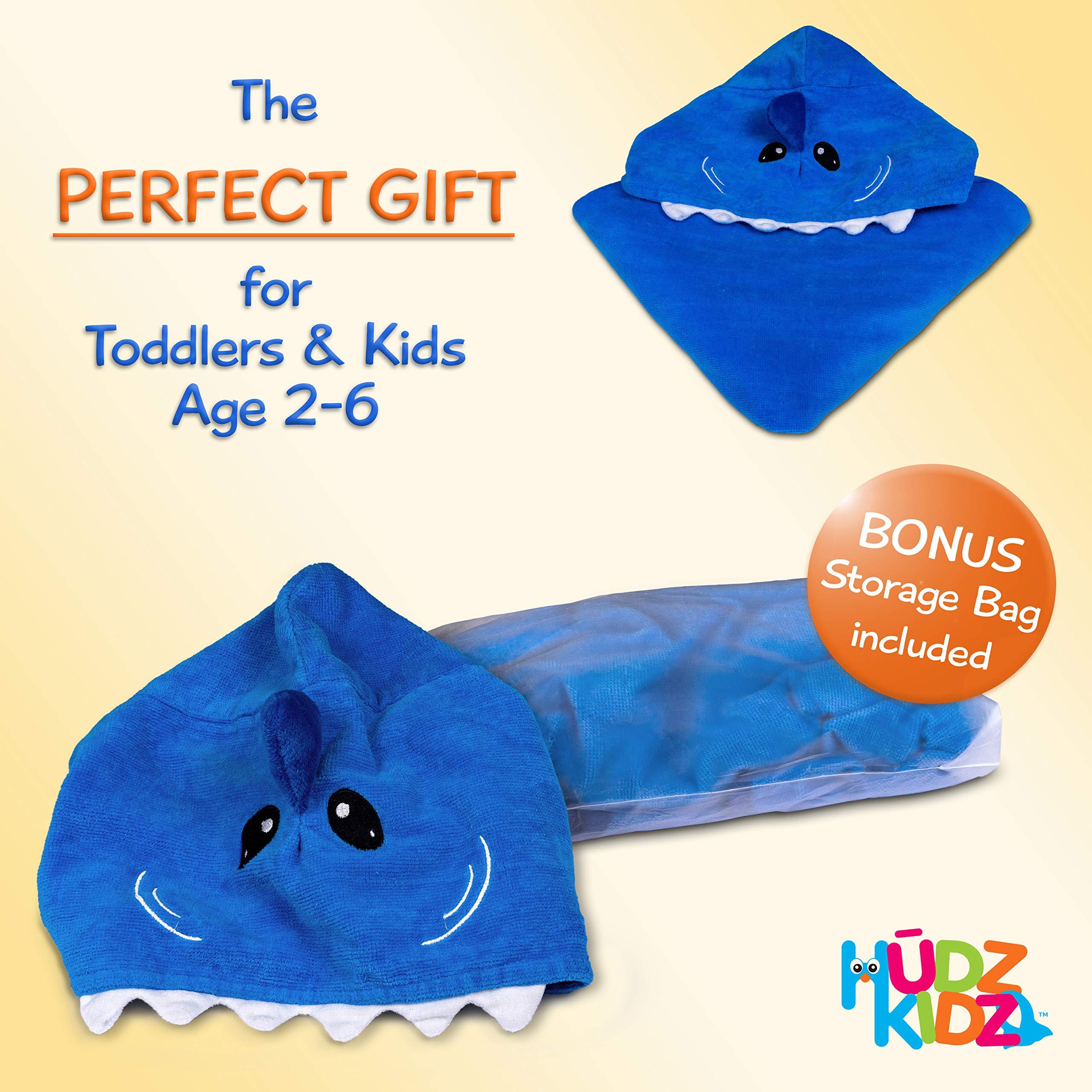 Hudz Kidz Hooded Towel for Kids & Toddlers, Ideal at Bath, Beach, Pool by Hudz Kidz (Image #7)