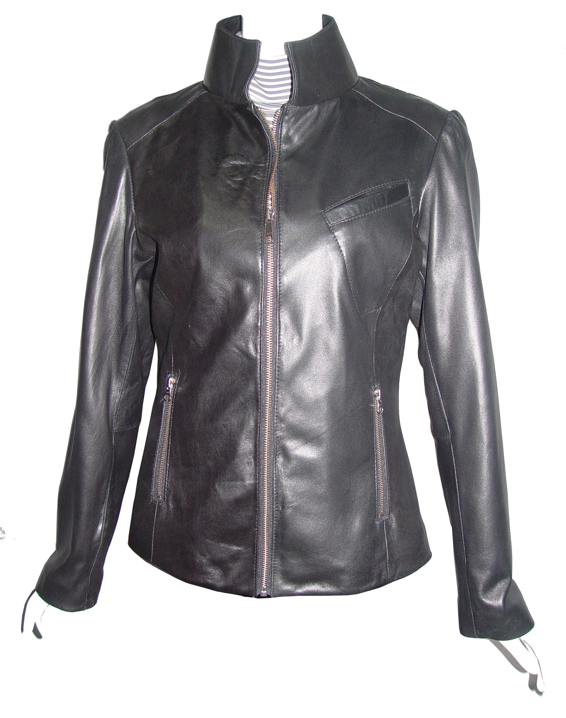 Nettailor Big Women Tall PLUS & ALL SIZE 4193 Lamb Leather Motorcycle Casual Jacket