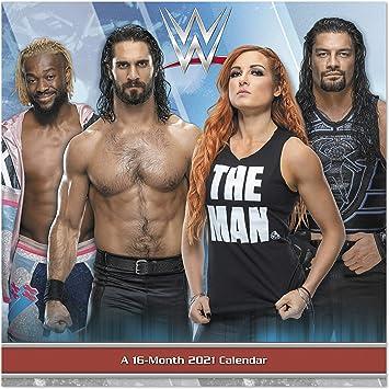 Calendrier mural 2021 WWE 30,5 x 30,5 cm, mensuel (DDD4742821