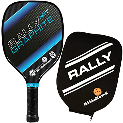 Rally NXT Graphite Pickleball Paddle and Neoprene Pickleball Paddle Cover | Lightweight Paddle | Teardrop Shape