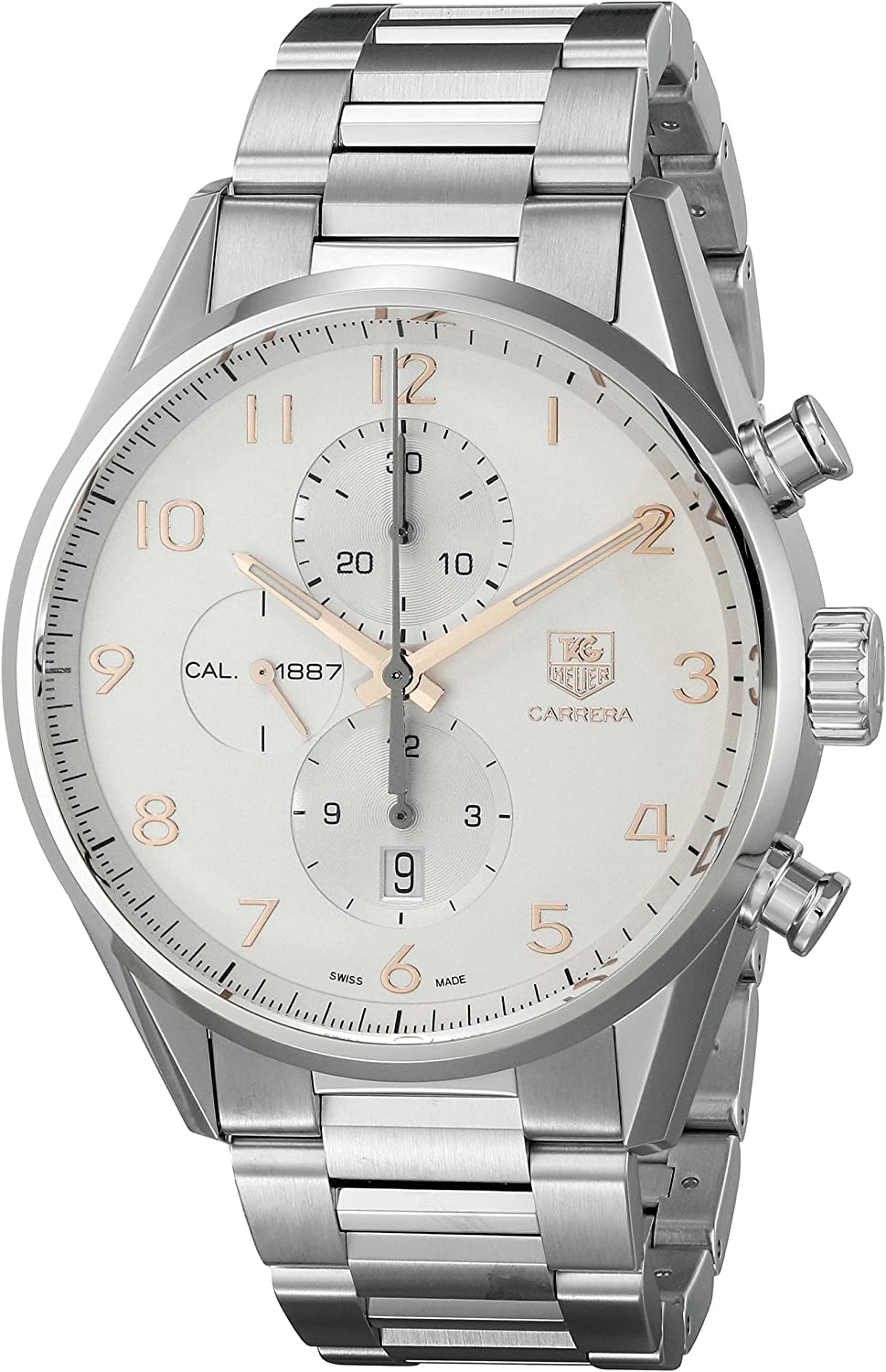 Tag Heuer Men s Carrera Silver Dial Stainless Steel Automatic Watch CAR2012.BA0799