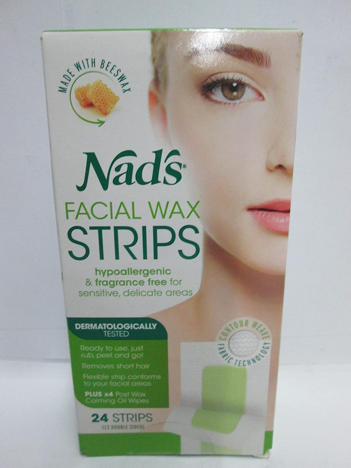 Nads Facial Wax Strips Size 24ct Nads Facial Wax Hair Removal Strips 24ct SI&D (US)Inc