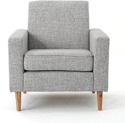 Christopher Knight Home Sawyer Mid-Century Modern Fabric Club Chair