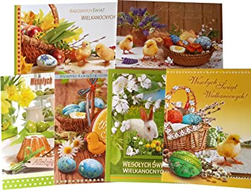 Amazon traditional polish easter greeting cards with glitter traditional polish easter greeting cards with glitter set of 6 m4hsunfo
