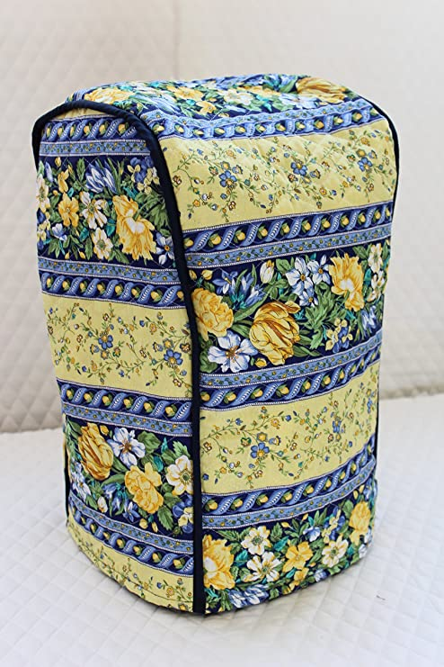 Ninja blender cover - Quilted double faced cotton, Blue Spring
