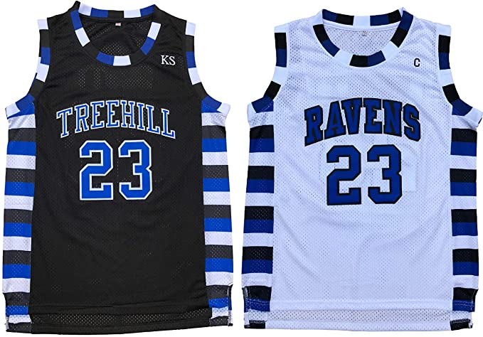 reputable site 367f2 06d8e Nathan Scott #23 One Tree Hill Ravens Throwback Basketball Jersey S-XXL