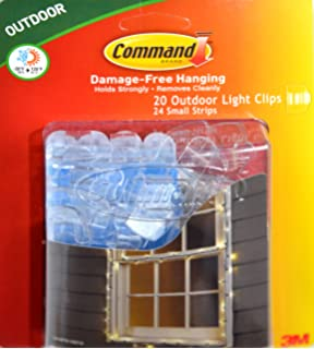 command clips for hanging outdoor string lights 20 clear clips