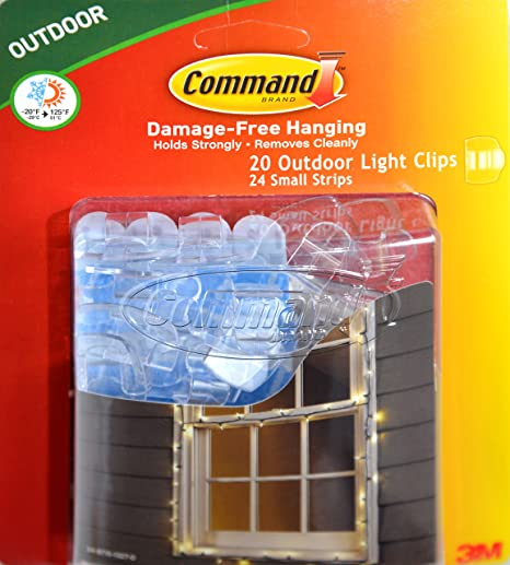 Amazon.com : Command Clips for Hanging Outdoor String Lights, 20 ...