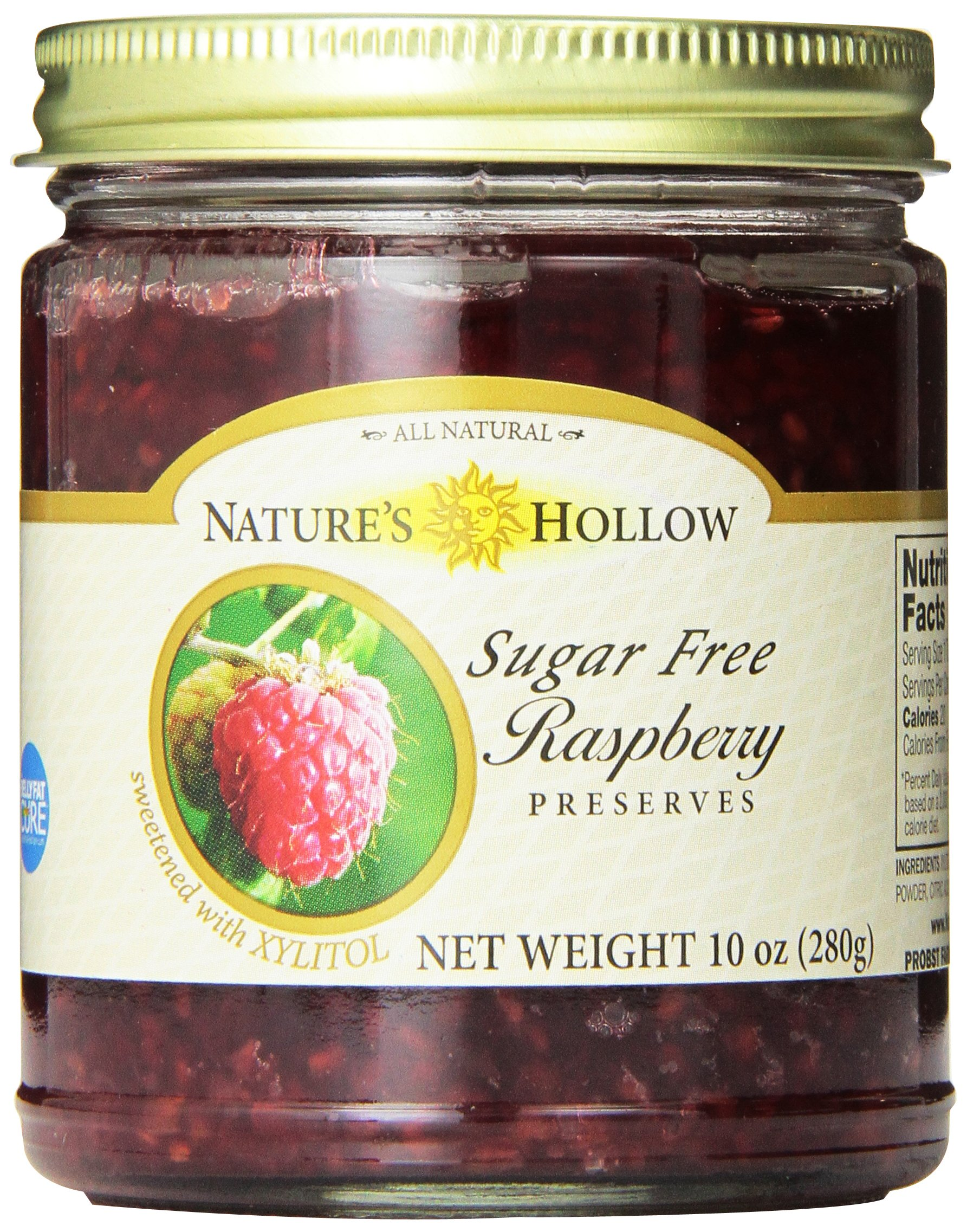 Nature's Hollow Sugar-Free Raspberry Jam Preserves, 10 Ounce