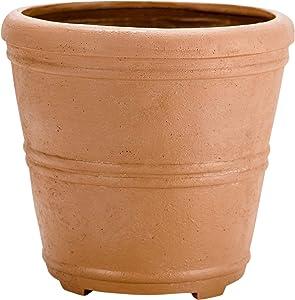 Martha Stewart Garden, Round False Bottom Planter, 17 Inch, Terracotta