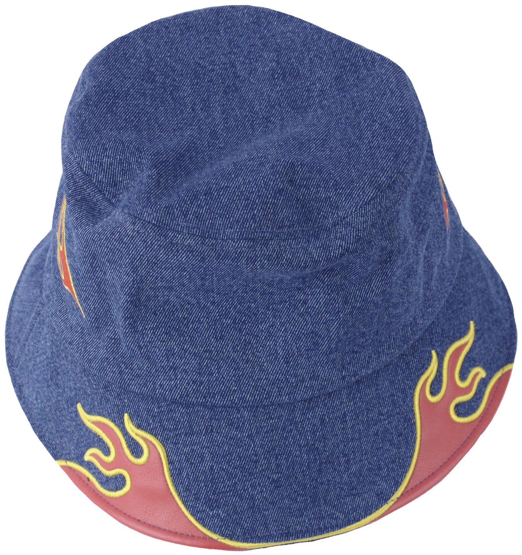 RaOn S20 New Flame Effect Style Sun Visor Wide Brim Foldable UV Protect Hat Beach Cap (Denim)
