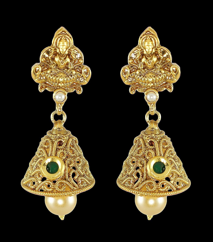 Buy Zaveri Pearls Gold Non Precious Metal Pendant Necklace With