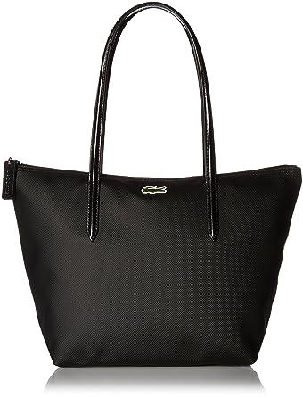 e274faec015 Amazon.com: Lacoste L.12.12 Small Tote Bag, Black: Clothing