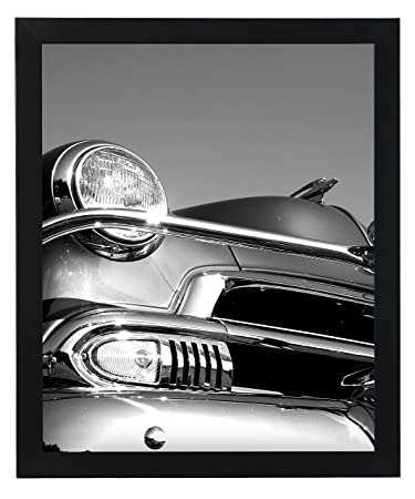 18x24 black picture frame smooth wood finish 1 inch wide