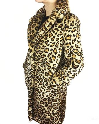 choisir le dernier acheter bien 60% pas cher Zara Manteau en Fausse Fourrure léopard Femme 8156/729 ...