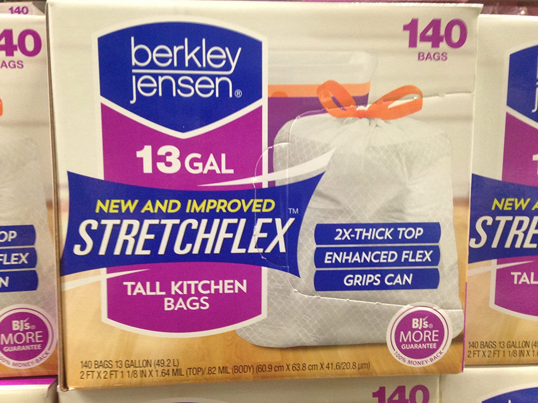 Berkley JensenストレッチFlex 13 Gal Drawstring 140 ct (パックof 6 ) B06XBH1R37