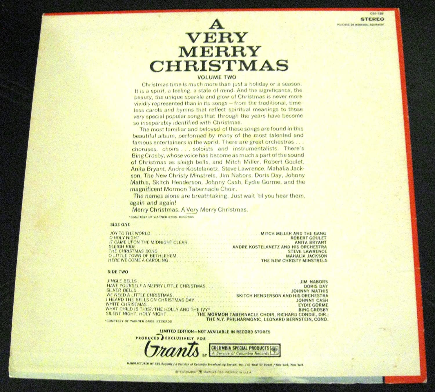 Various - A Very Merry Christmas by W. T. Grants - Volume 2 - Amazon ...