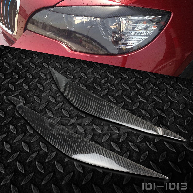 Vera fibra di carbonio sopracciglia palpebre fari Covers car-wear