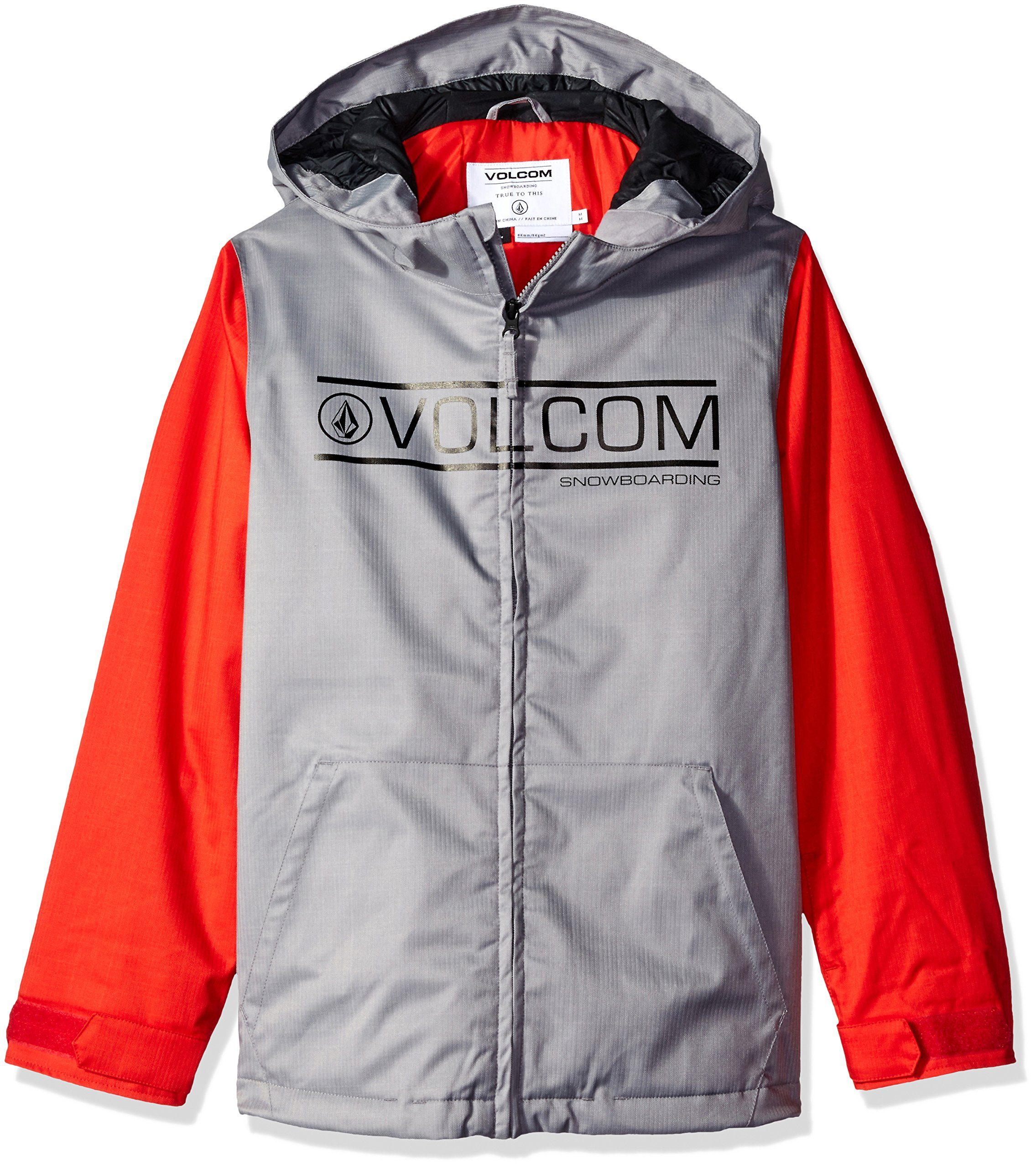 Volcom Big Boys' Selkirk Insulated Jacket, Grey, L