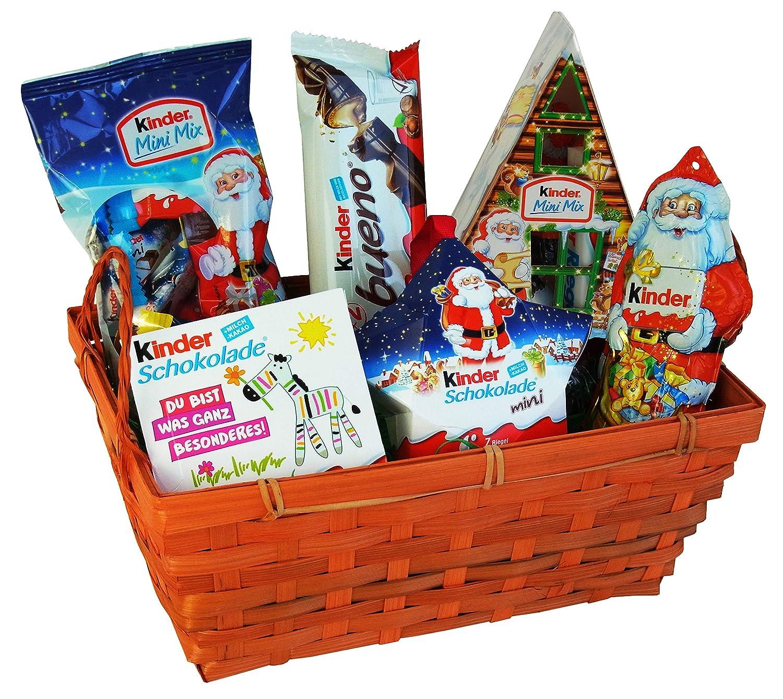 Geschenk Korb Nikolaus mit Ferrero Kinder Schokolade (6-teilig ...