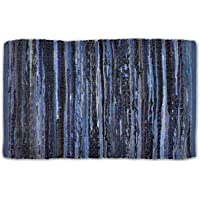 Home Essentials DII Alfombra para Cocina, baño, Puerta de Entrada, lavandería y habitación, 1.2 m x 1.8 m, Azul Oscuro