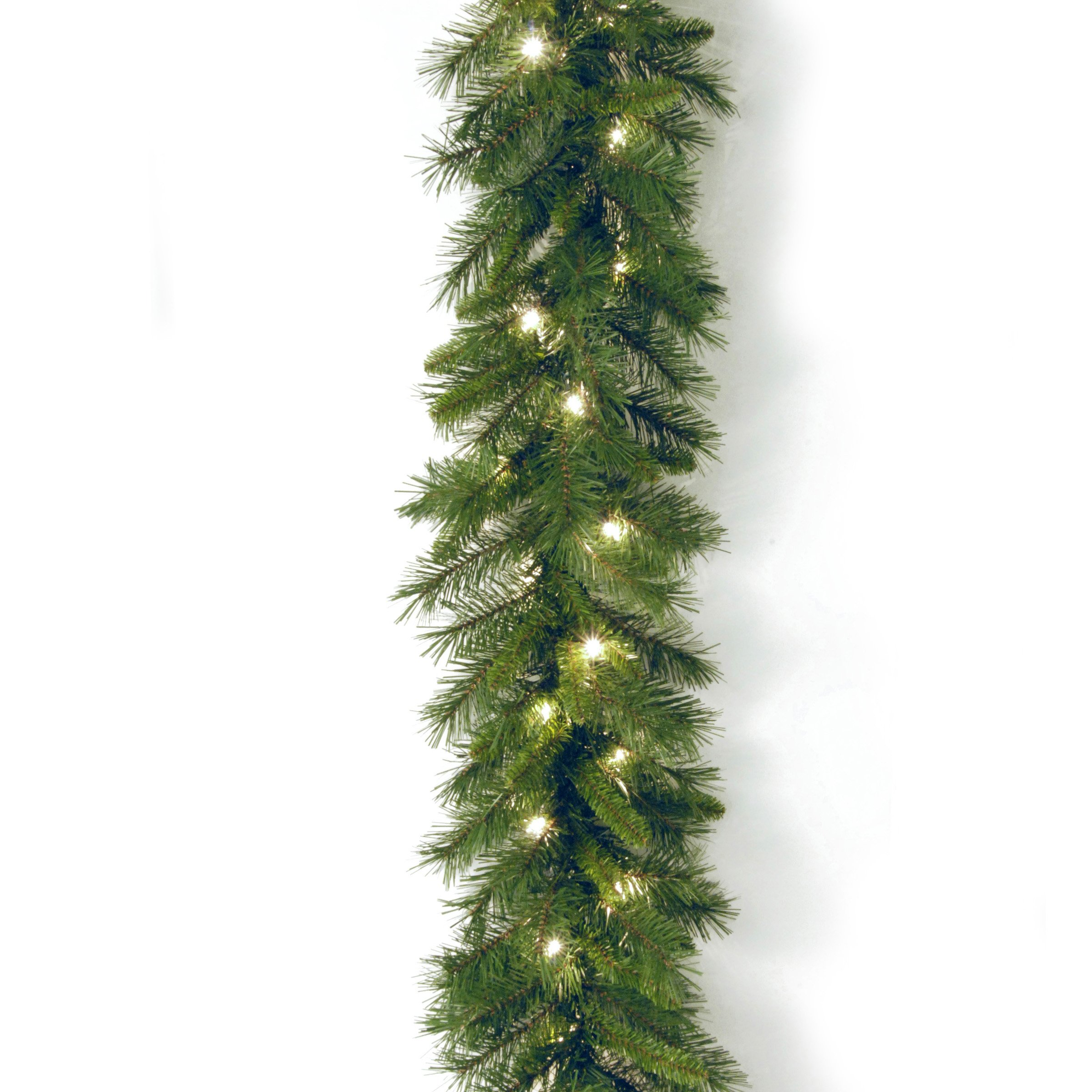 National Tree 9 Foot by 10 Inch Winchester Pine Garland with 50 Clear Lights (WCH7-300-9A-1)
