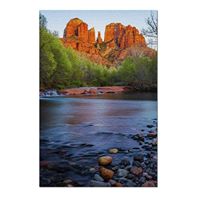 Sedona, Arizona - Oak Creek & Cathedral Rock 9029427 (Premium 1000 Piece Jigsaw Puzzle for Adults, 20x30, Made in USA!): Toys & Games