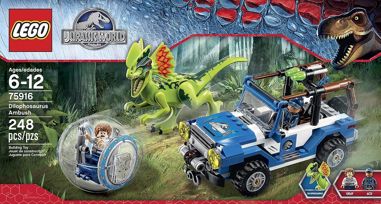 amazoncom lego jurassic world dilophosaurus ambush 75916 building kit toys games