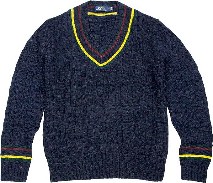 Polo RALPH LAUREN - Sudadera de críquet para hombre - Azul - Large ...