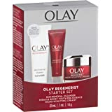 Olay Regenerist Starter Set with Skin Renewal Cleanser 20mL, Miracle Boost Youth Pre-Essence 7 ml, Micro-Sculpting Cream, 14 g
