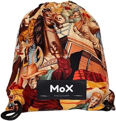 Mochila bolsa de cuerdas tela algodón 100% con cuerdas resistente festivales deportes fabricada en España Bang MOX Moxilas: Amazon.es: Ropa y accesorios
