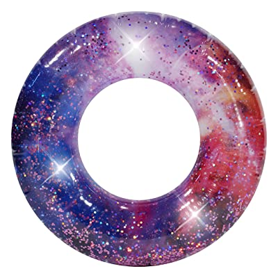 "Poolcandy Galaxy Pool Tube 36"" - Deep Space Pink Glitter - Perfect for Swimming Pool Parties, The Beach or Lakes.: Toys & Games"