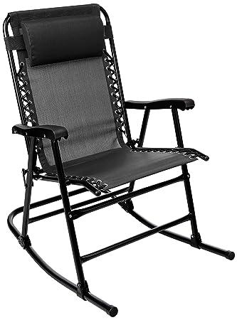 AmazonBasics Foldable Rocking Chair – Black