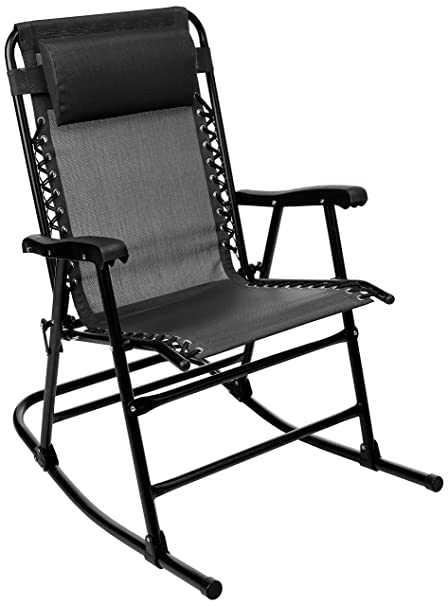 Fabulous Amazonbasics Foldable Rocking Chair Black Squirreltailoven Fun Painted Chair Ideas Images Squirreltailovenorg