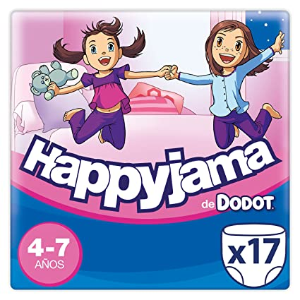 094b25c3e739b1 Dodot Happyjama Pañales niña, 4-7 años, 17 uds
