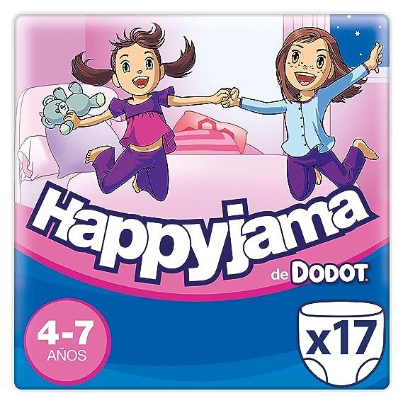 Dodot Happyjama - Pañales para niñas de 4-7 años, 17 unidades: Amazon.es: Salud y cuidado personal