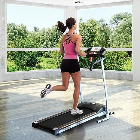 Cinta para correr con ruedas, eléctrica y plegable, pantalla LCD ...