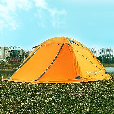 Wnnideo Barra de Aluminio de Doble Capa 2 Personas 4 Estaciones Tienda de campaña Camping Dome Tiendas de campaña topwind 2 Plus Nieve con Falda: Amazon.es: Deportes y aire libre