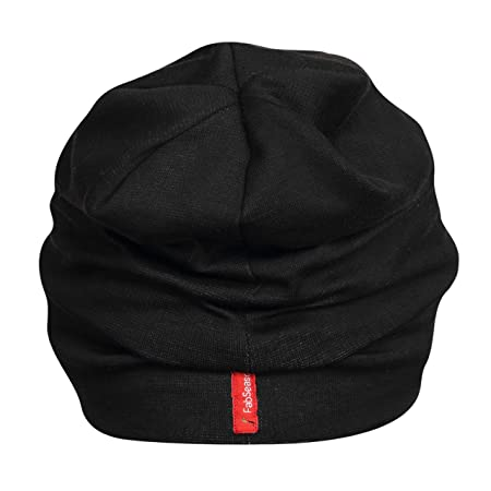 2d2a5d86b33 Buy FabSeasons Unisex Cotton Slouchy Beanie and Skull Cap (Black) Online at  Low Prices in India - Amazon.in