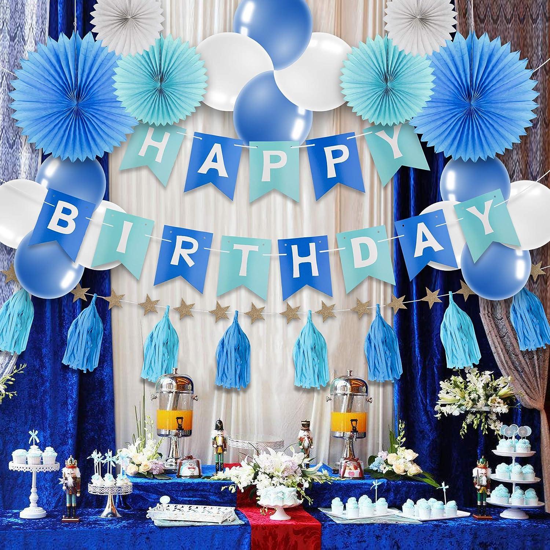 Decoración Cumpleaños Fiesta Party Decorations Happy Birthday Bandera Con Globos Guirnalda Del Papel Gorritos De Papel Juego De Accesorios De Diy