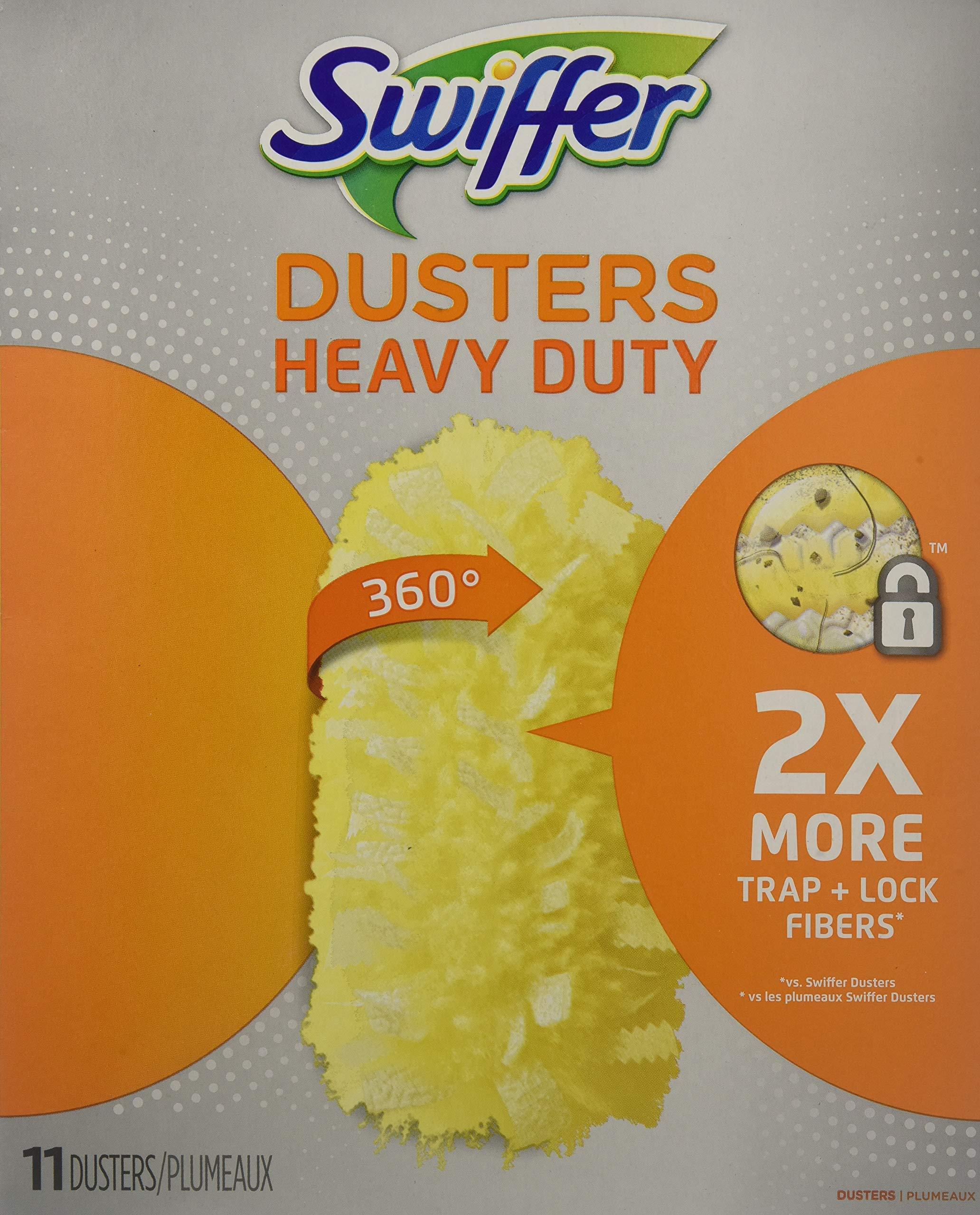 Swiffer 99035 Heavy Duty Dusters Refill, Dust Lock Fiber, 2-Inch X 6-Inch, Yellow, 33/Carton by Swiffer