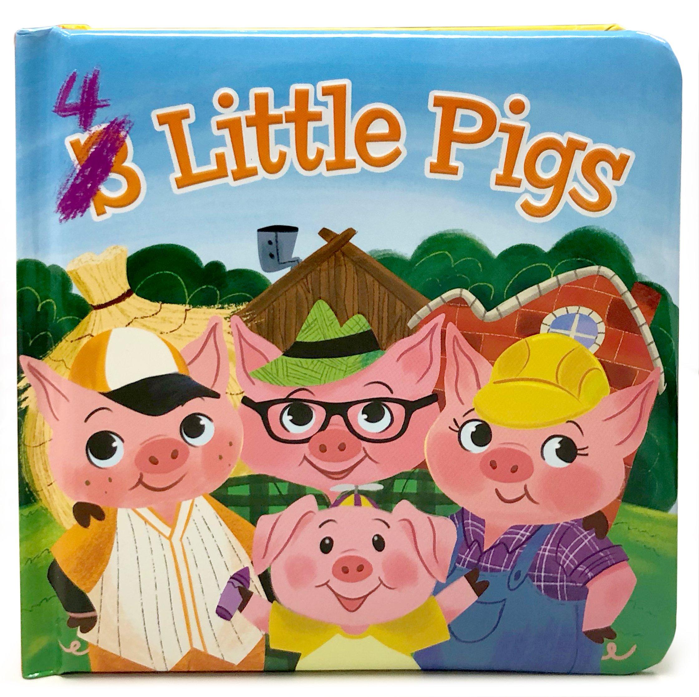Amazon.com: 4 Little Pigs: Padded Board Book (Little Bird Stories ...