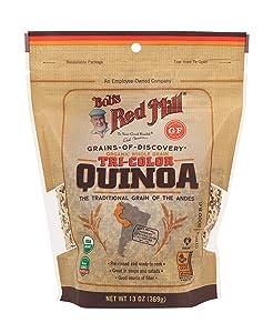 Bob's Red Mill Organic Tri-Color Quinoa Grain, 13 Oz