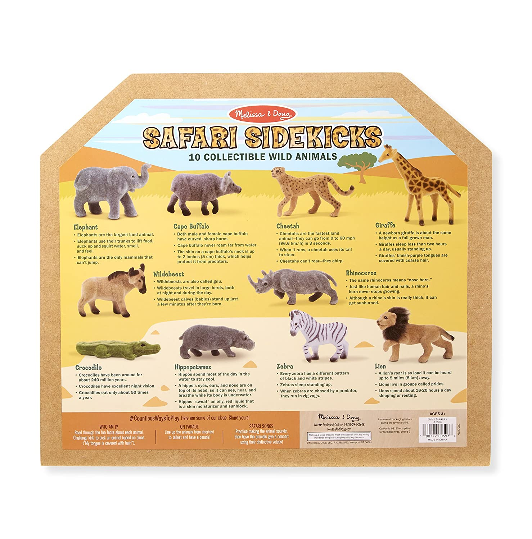 c8b06bf136549 Amazon.com: Melissa & Doug Safari Sidekicks Classic Play Sets: Toys & Games