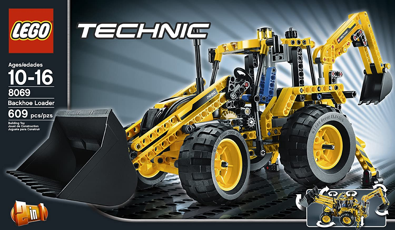amazon com lego technic backhoe loader 8069 toys u0026 games
